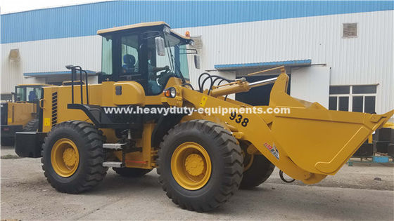 SINOMTP LG938L Wheel Loader 3tons Rated Loading Kapasitas Dengan Mesin Deutz 92kw